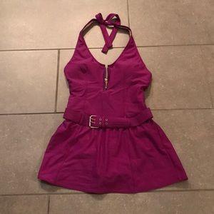 Purple Shape FX Swimdress